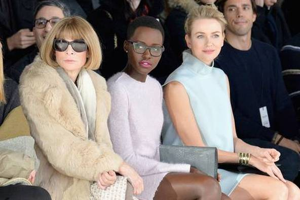 Lupita Nyongo At Calvin Klein Fashion Show