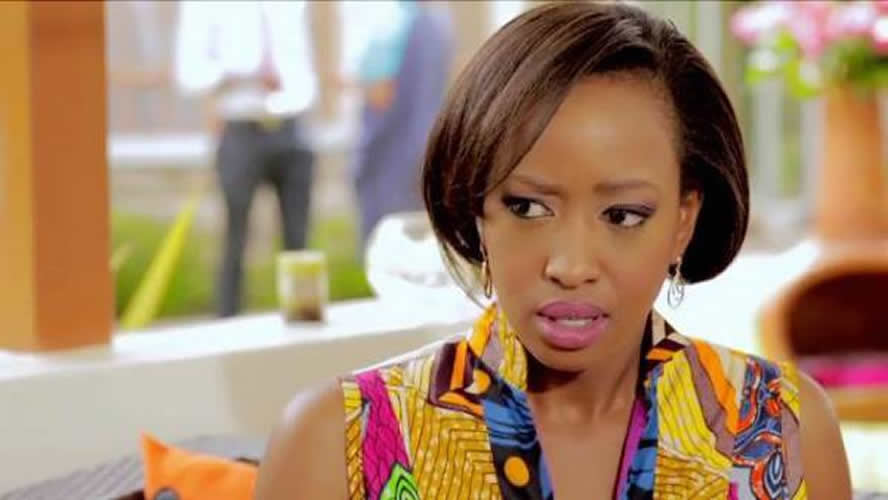 Janet Mbugua On Set Of Rush